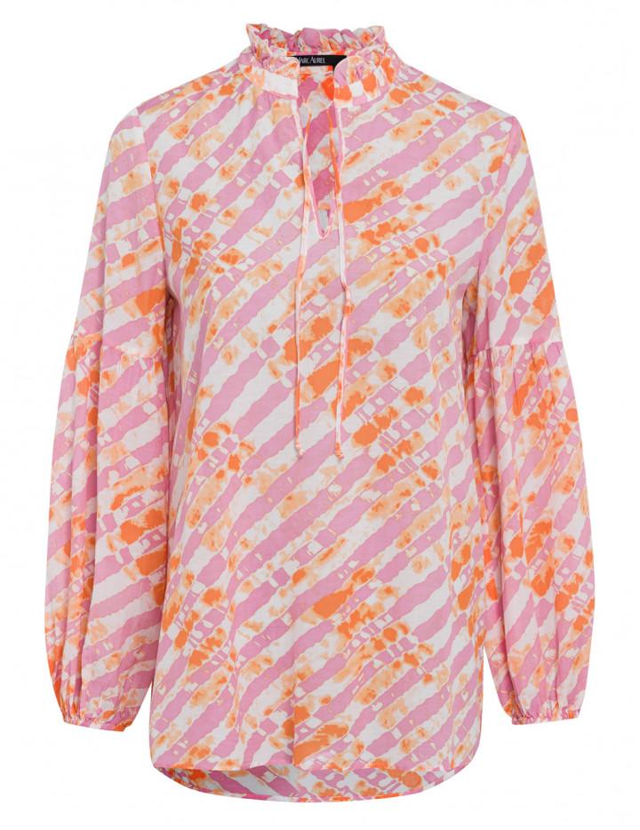 Блуза с принтом и оборками
